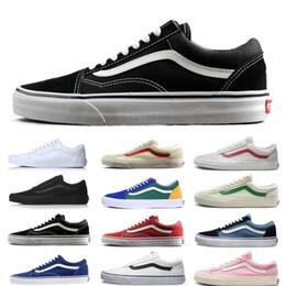 Zapatillas de skate online-Nuevas furgonetas Athentic Classic Old Skool Lienzo para hombre Diseñador de monopatines Zapatillas deportivas para hombres Zapatillas de deporte Mujer Entrenadores ocasionales