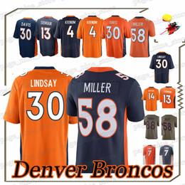 13a007b478111 Camisetas de Bronco Phillip 30 Lindsay 58 Von Miller Denver Trevor 13  Siemian Courtland 14 Sutton Case 4 Keenum Bradley 55 Chubb jersey denver  bronco jersey ...