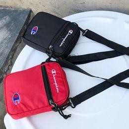 Saco da correia das meninas on-line-Venda quente Champions Belt Bag Mulheres Meninas Crossbody Bags Mini Bolsa de Ombro de Viagem Pacote de Cinto de Compras Carteiras Carteiras de Cor Sólida B383