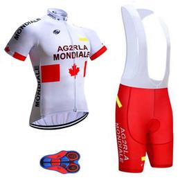 2019 AG2R squadra ciclismo manica corta pantaloncini in jersey set 9D pad in gel tuta da ciclismo uomo abbigliamento ciclismo traspirante 0515 da maglia di pelli fornitori