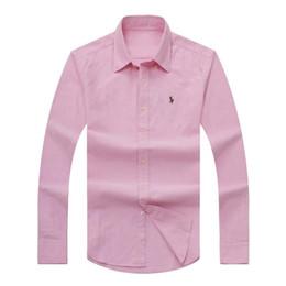Mode-Großhandel billig Herbst und Winter Männer langärmelige Smokinghemd reine Männer Casual Polo-Shirt Oxford Hemd soziale Markenkleidung von Fabrikanten