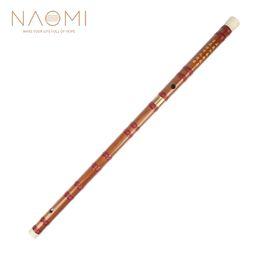 Chave de flautas de bambu d on-line-NAOMI Chinês Flauta Flauta De Bambu Flauta de Sopro Instrumentos Musicais Chinês Dizi Em D Chave de Alta Qualidade Novo