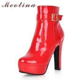 40cbbc78cea54 Rabatt Block Ferse Schuhe Lackleder | 2019 Block Ferse Schuhe ...