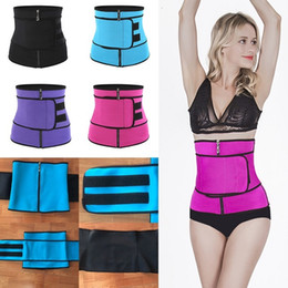 Cinta do envoltório do corpo on-line-Body Shaper Slimming Wrap Belt Waist Trainer Cincher Corset Fitness Sweat Belt Girdle Shapewear Plus Size Women Mens Fajas Sauna