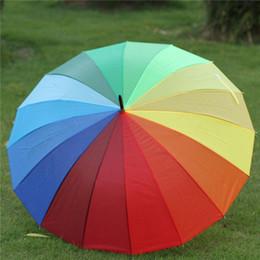 Renkli Gökkuşağı Şemsiye Gökkuşağı Şemsiye Kadınlar 16 K Yağmur Geçirmez Rüzgar Geçirmez Uzun Saplı Şemsiye Güçlü Çerçeve Su Geçirmez Büyük BH1371 TQQ nereden