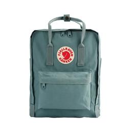 Sacchetto di spalla multicolore online-Zaino all'ingrosso 16L Sacchetto di scuola di tela di alta qualità borse a tracolla doppie borse per studenti uomini e donne multicolor disponibili
