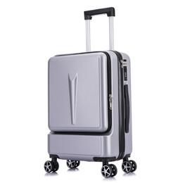 Valise trolley en ABS, bagages de grande capacité, boîte d'embarquement professionnelle pour homme de 20 pouces, valise à roulette universelle, nouveau sac d'ordinateur avant ? partir de fabricateur
