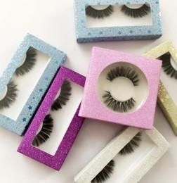 Papel de caixa de maquiagem on-line-3D vison cílios com caixa de papel maquiagem dos olhos de vison cílios falsos macio naturais grossos cílios postiços eye lashes extensão beauty tools gga2103
