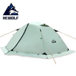 2019 zeltstangen Hewolf Professionelle Doppel Person Aluminium Pole Doppelschicht Wasserdicht Winddicht Snowproof Camping Zelt Mit Schnee Rock günstig zeltstangen