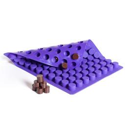 Käse schimmel online-88 Kavitäten Mini Runde Mini Käsekuchen Formen Backen Silikonform für Schokoladentrüffel Gelee und Süßigkeiten Eisform