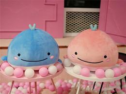 Wasserspielzeug online-Heiße Verkäufe scherzt Spielzeug nette hinunter Baumwollwal-Plüsch-Spielzeug-super weiches Delphinkissen-gefüllte Qualitätswasser-Geschöpf-Geburtstags-Geschenke
