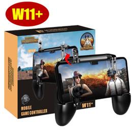 i migliori telefoni cellulari Sconti W11 + PUBG Gamepad Controller PUBG Wireless Joystick Game Shooter Controller per iPhone Android Samsung Phone
