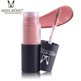 lipstick 12 pcs Promo Codes - MISS ROSE cylindrical tube matte lipstick 12 colors lip gloss waterproof Non decoloration lip gloss 12 pcs lot drop shipping