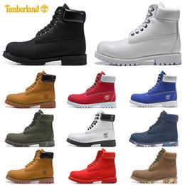 Homens sapatos casuais para o inverno on-line-2019 Timberland botas de luxo designer de mulheres dos homens sapatos casuais Castanha Preto Branco neve inverno caminhadas tênis mens formadores bota