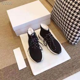 encaje importado Rebajas Calcetines de punto con cordones de la marca ze08 y zapatos. Importada tela de seda con forma de mosca que no se deforma. Suela de caucho suave.