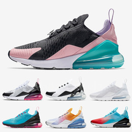 Scarpe belle blu online-NIKE Air Max 270 Have A Nice Day Women Running shoes South Beach Blue Void Blooming Floral Firecracker University Gold Men Sports Sneaker
