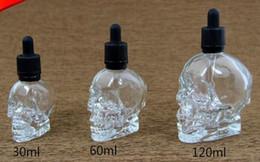 vape E Juice Bottles Bouteilles compte-gouttes en verre avec tête de verre de 120 ml avec capuchons de bouteille de preuve pour enfants logo couleur personnalisé clair ? partir de fabricateur