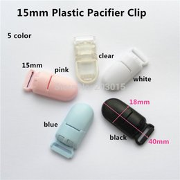 Argentina 5PCS 1.5CM Kam Brand Plastic Baby Chupete Dummy Chain Holder Clips para 15mm ribbon Suspender Clips Suministro