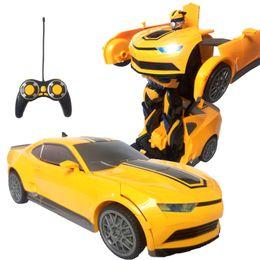 2019 детские игрушки для мальчика Пульт дистанционного управления RC s RC Transformation Boy Деформированная фигурка автомобиля Роботы Модель автомобиля Robocar Juguetes Classic
