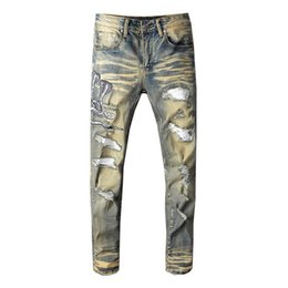 Großhandel GxxH Gezeiten Marke Große Größe Herren Jeans High End Marke Herren Jeans Damen Klassische Denim Lace Casual Hosen Größe XXL 5XL 6XL Von