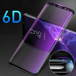 autocollant de peau galaxie Promotion Pour Samsung Galaxy S8 S9 S10 Plus Note 8 9 6D Complètement Courbé En Verre Trempé Accessoires de Téléphone Protecteur D'écran