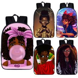 2019 mochila princesa meninas Afro marrom Princesa menina mochila África meninas Americanas daypack crianças mochilas escolares para adolescente laptop mochila mochila desconto mochila princesa meninas