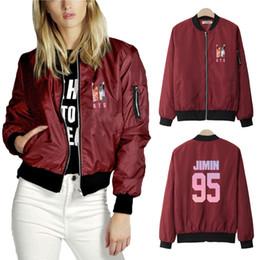 Giacca di stile dell'esercito delle donne online-BTS Thin Jacket Women 2019 Corea Fashion Casual Jacket K-pop Hip Hop Harajuku Nuovo stile bts V e esercito di Kimin Kimin