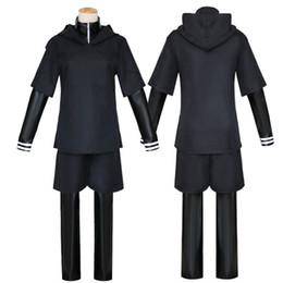 chaqueta de anime tokio ghoul Rebajas Anime tokio Ghoul Cosplay disfraces Kaneki Ken Cosplay Disfraces Sudaderas con capucha Negro Lucha Uniforme conjunto completo con máscara