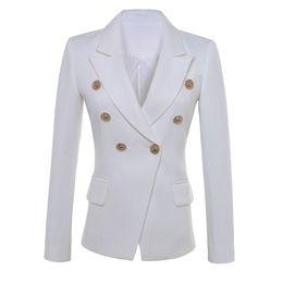 chaquetas de un solo botón para mujer Rebajas ALTA CALIDAD Nueva moda 2019 Star Style Designer Blazer Botones de oro de las mujeres Blazer doble botonadura Más el tamaño S-XXXL
