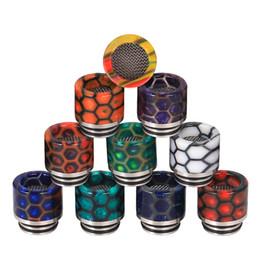 Supporto in resina online-Vape Drip Tip Honeycomb Bocchino in pelle di serpente in resina anti-sputo per 510 810 TFV8 TFV12 Prince Accessori per sigaretta elettronica DHL Free