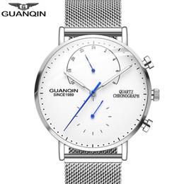 Guanqin orologi al quarzo online-Guanqin Mens Orologi Top Brand Luxury Cronografo Orologio Da Uomo D'affari Casuale Creativo Maglia Mesh Orologio Al Quarzo Relogio Masculino A Y19051603