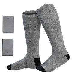 Красиво электрические носки с подогревом с аккумуляторной батареей для хронически холодных ног большой размер USB зарядки отопление носки от Поставщики открытые сапоги