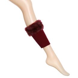 Calzini in tuta di lana online-2018 Nuovo Autunno Inverno caldo pelame corto piede copertura Ankle Support Calze Stivali Knit caldo Leg coprigambe la sicurezza nello sport # 474.998