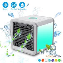 Mini ventilador de escritório on-line-Ventilador do refrigerador do espaço do refrigerador do refrigerador do espaço de USB Artic Ventilador de mesa portátil Ventilador do condicionamento de ar do mini dispositivo frio Vento reconfortante para o escritório domiciliário
