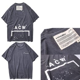 bbbce0f2c 2019 NEW Top A-COLD-WALL ACW Splash-ink Letter T shirt Hight Quality Hip  Hop Casual Japan Skateboard ACW A-COLD-WALL Cotton Tee