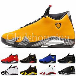 2019 мужчины желтые корзины кроссовки 14 14s желтые мужские ботинки баскетбола дизайнер Jumpman кроссовки Desert Thunder Basket Майкл Спорт 23 кроссовки с коробкой Des Chaussures US13 дешево мужчины желтые корзины кроссовки