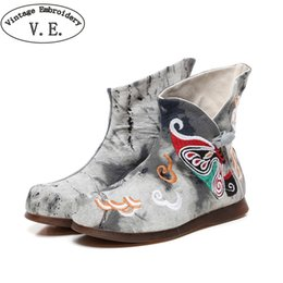 30767d5020f Vintage Embroidery Women Winter Warm Boots Ladies Casual Ethnic Style Canvas  Rubber Shoes Buckle Strap Platform Boots Woman