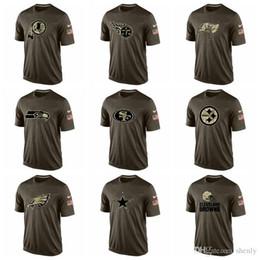 Canada NOUVEAU 2019 Eagles Steelers 49ers Seahawks Titans Redskins hommes t-shirts Salut au service Dri-FITT-Shirt supplier eagles t shirts Offre