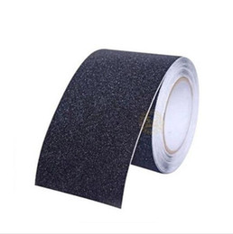 anti slip shower stickers Coupons - Anti Slip Tape Stickers for Stairs Decking Strips Shower Strips Pad Flooring Safety Tape Mat (Black) 5M*15CM