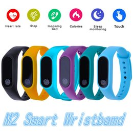 M2 Bluetooth Bilezik Akıllı Bileklikler Fit Bit Su Geçirmez Çağrı Android IOS Için Sağlık Bileklik Kalp Hızı Monitörü Hatırlatmak nereden ücretsiz numuneler gözlükleri tedarikçiler