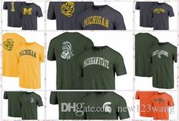 Fanatics gebrandmarkt Michigan State Spartans Michigan Wolverines Miami Hurricanes Orange Heimatstadt gewölbte Stadt T-Shirt von Fabrikanten