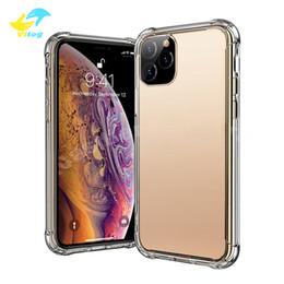 2019 stand smart cover per iphone Vitog Super antidetonanti TPU della cassa del telefono libero trasparente protegge i casi di copertura antiurto morbida per iPhone 11 pro max 8 più X XS