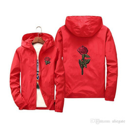 2019 chaqueta recta vintage Chaqueta bordada en color rosa para mujer Chaqueta exterior a prueba de viento delgada Ropa para padres e hijos Estilo de moda Simple Chaqueta deportiva de gran tamaño