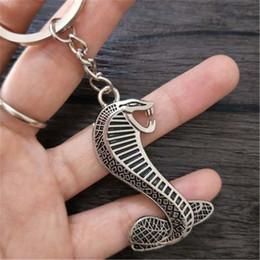 3D Metal Cobra Emblème De Serpent Badge De Voiture Auto Porte-clés Porte-clés Chaîne Porte-clés Pour Ford Focus shelby Car style ? partir de fabricateur