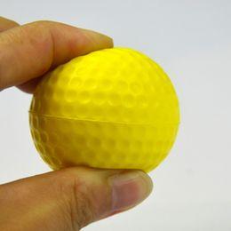 2019 neuheit golfbälle Foam Golfbälle Gelb Sponge Elastic Indoor Outdoor-Praxis-Training PU-Kugel 6.3cm Plüsch Hohe Kreditverhältnis 1 3QH J1