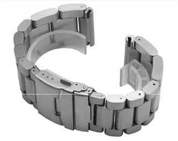 Correas panerai 24mm online-PARA PANERAIL 2019 reloj caliente de la venta hebilla de acero inoxidable correa de pulsera masculina 22MM 24MM 26MM sustituto de la correa de reloj Panerai PAM