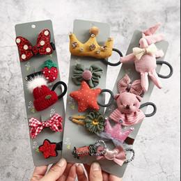 2019 diy fita rosa headband Moda 5 PCS Faixas de Cabelo Do Bebê Crianças Corda de Cabelo Princesa Caçoa o Ornamento Da Menina Cocar Acessórios Dos Desenhos Animados