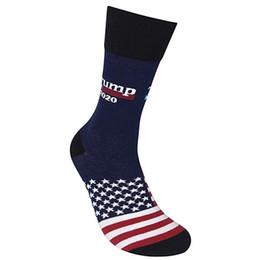 Bandiere di alta qualità online-Alta qualità Donald Trump 2020 Calze della bandiera americana calzini per i calzini Presidente Trump Elezione traspirante basket per adulto Uomini regalo M107Y