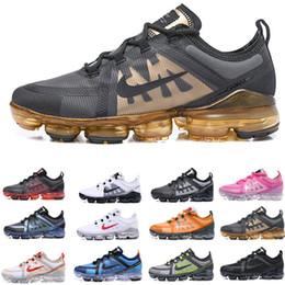 le ragazze nozze scarpe avorio Sconti nike Vapormax air max airmax 2019 Run Utility Uomo Scarpe da corsa Best Quality Nero Antracite Bianco Rifletti Argento Sconto Scarpe Sport Sneakers Taglia 40-45