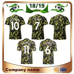 2019   2019 6 POGBA Edición limitada camiseta de fútbol 18 19   10 RASHFORD  EA Camiseta de fútbol deportiva Estampado leopardo versión especial  uniforme de ... 5f8ca2c4ed48b